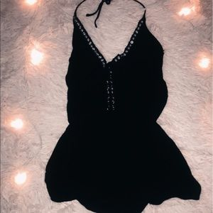 black edgy/90's romper
